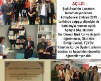 Şişli Anadolu Lisesi Kütüphanesi Açıldı