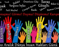 10 Aralık Dünya İnsan Hakları Günü Kutlu Olsun!